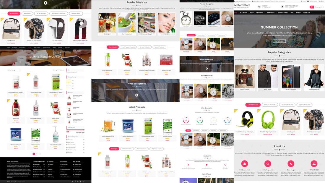 Metrostore Pro Pro - Free WordPress ecommerce Store WooCommerce Theme